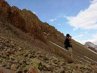 Nick on trail to Mt. Sneffels