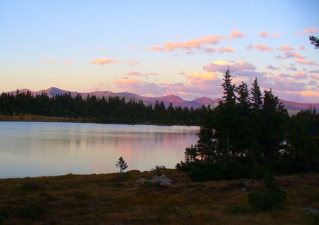 Kings-Emmons Ridge at dusk