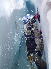 Climbing out of a crevasse the easy way