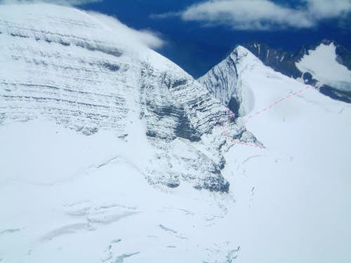 West face of Mount Sir Alexander