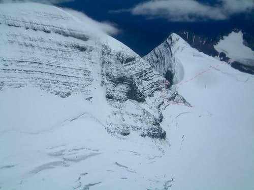 West face of Mount Sir Alexander