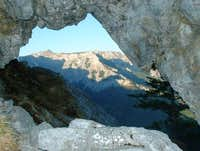 A 'stone window' near...