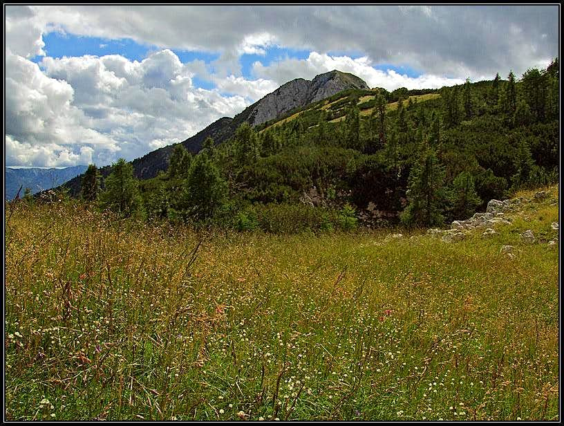 On the NE ridge of Debela pec