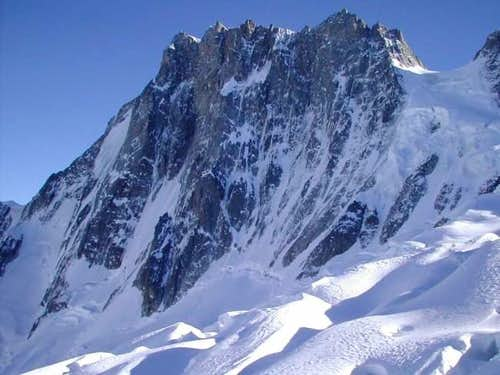 The wall: Grandes Jorasses...
