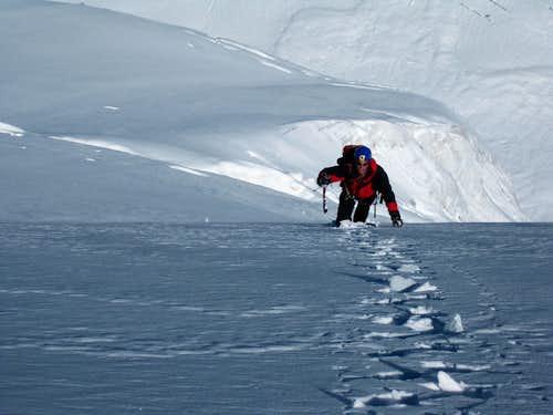 Summit ice field