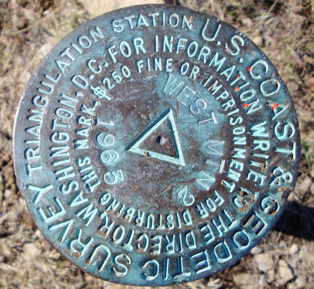 West Mountain Survey Marker