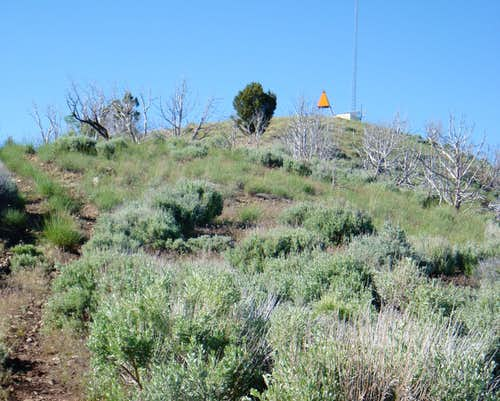 Triangulation Station on the Summit of West Mountain 2 (Utah County)