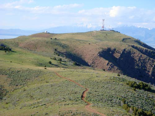 Antennas and various other communication devices on the North Peak of West Mountain (Utah)
