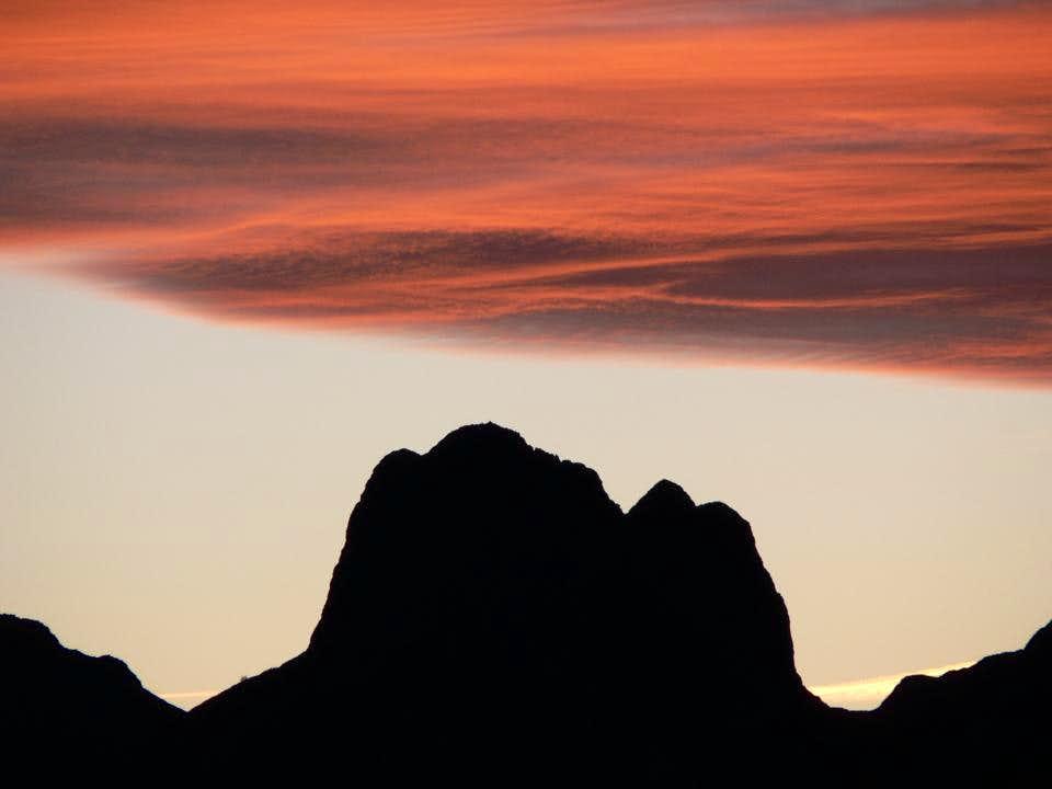 Mount Pedum waiting sunrise..