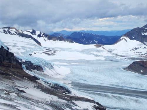 Vast icefield to the West of Mount Sir Alexander
