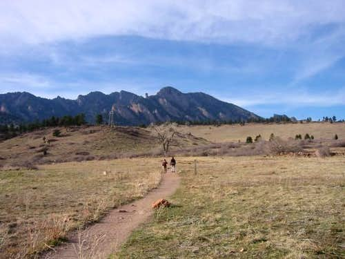 The popular trails of Boulder...
