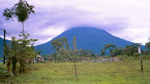 Arenal from the east and the...