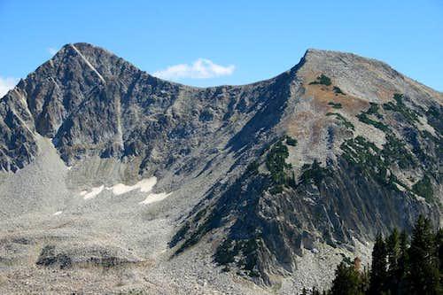 The Pfeiferhorn, and the Alpine Ridge.