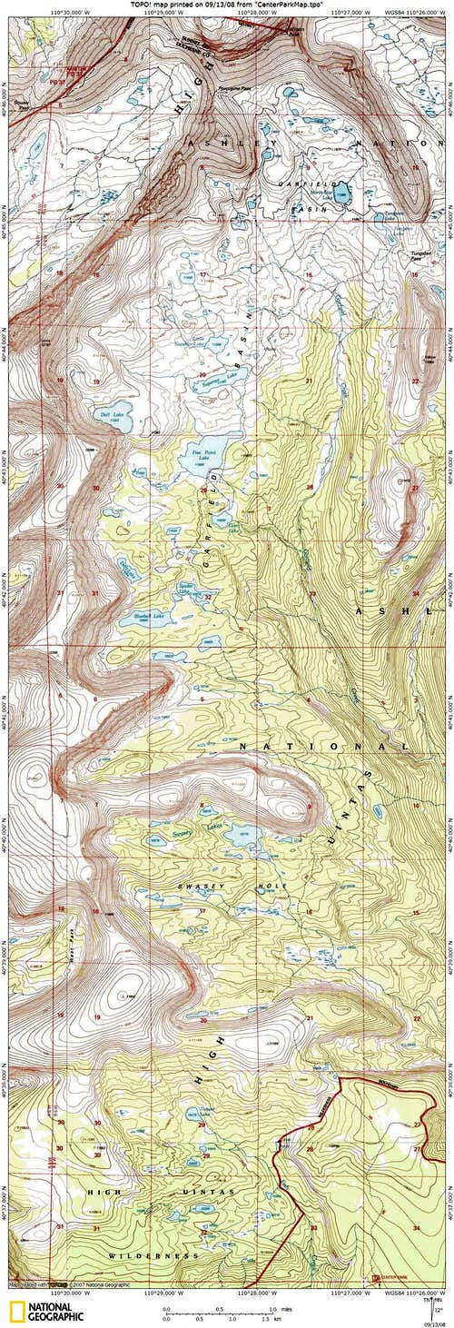 Topo map of Garfield Basin