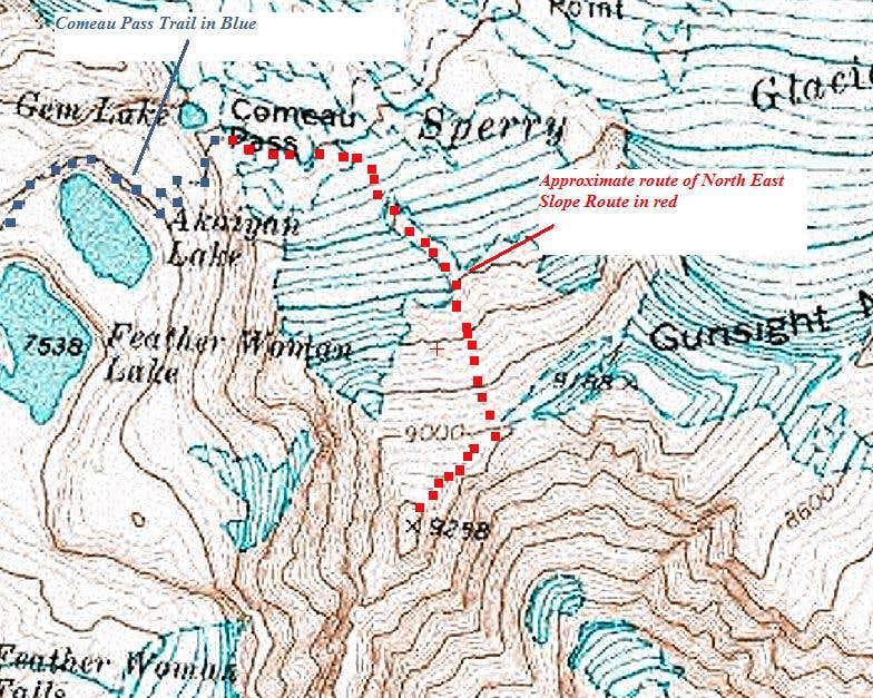 Gunsight - North East Slope Route