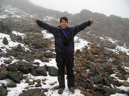 Here I am at 15,840 feet on...