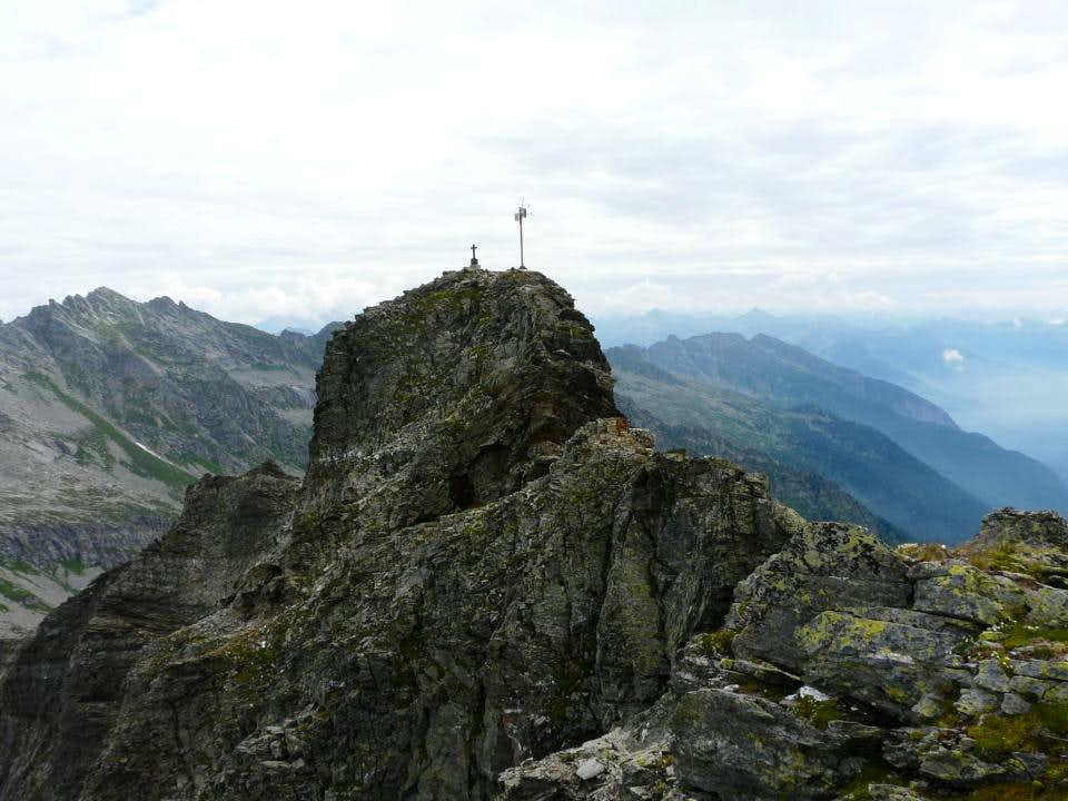 the summit of Pizzo Stella or Martschenspitz