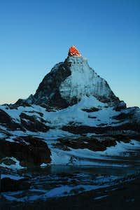 Glowing Matterhorn