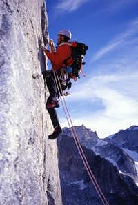 My climbing mate on one of...