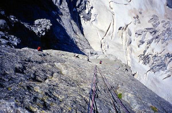 Climbing the Gaiser Lehmann...