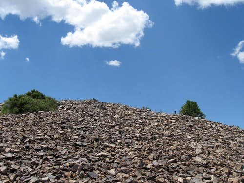 The summit rock pile
