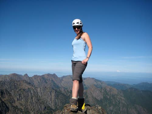 Mrs. Klenke on the summit of Mt. Constance