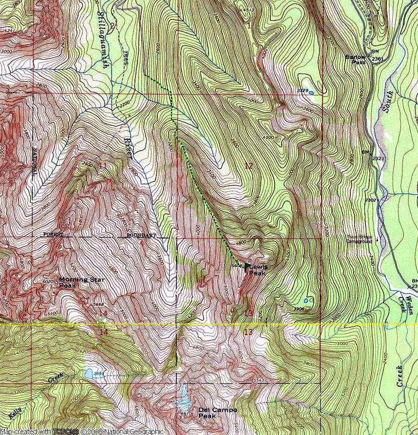 NW ridge route