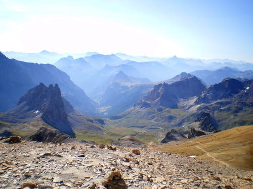 view from Mont Thabor