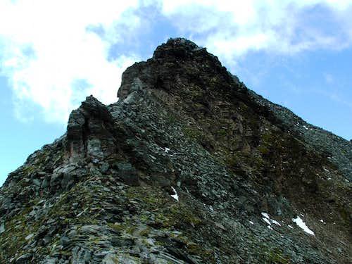 The last few metres on the ridge