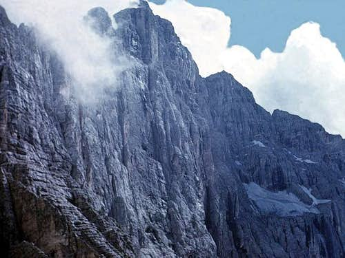 the Civetta NW wall (1200 m...