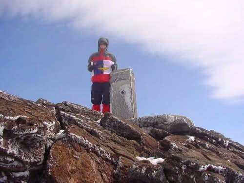 The summit at 2351 meters...
