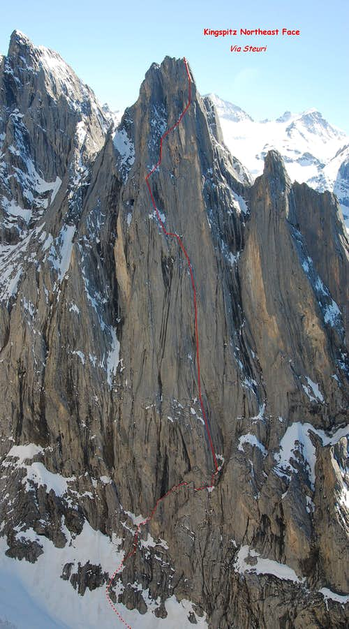 The Kingspitz Northeast Face