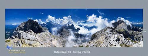 From Kriz over Zadnjica valley