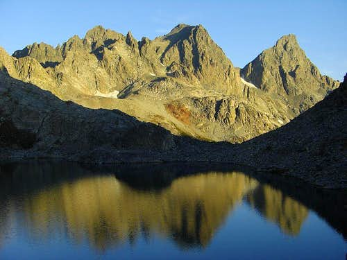 Cecile Lake, Mt. Ritter & Banner Peak