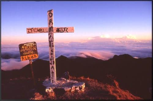 The summit of Volcan Barú....