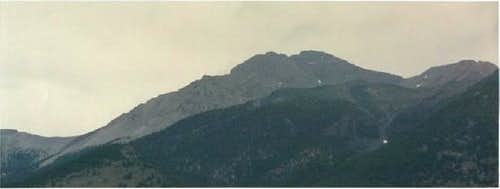Cloudy day around Borah Peak,...
