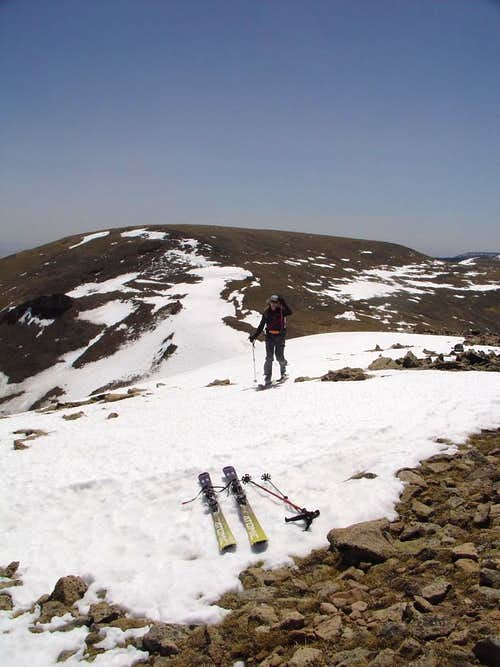 Amy nearing summit of Jicarita