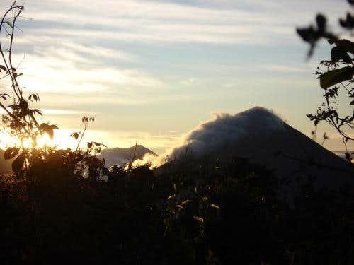 San Pedro from Pakisis volcanoes