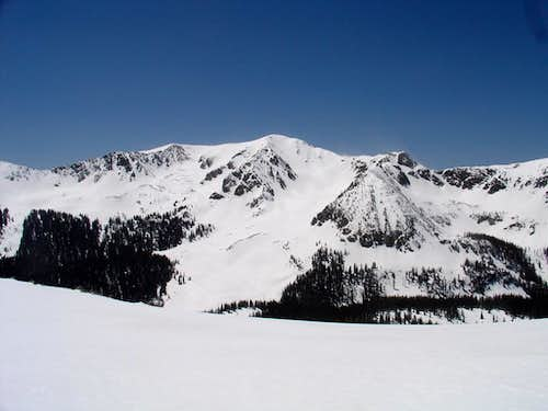 Lake Fork Peak:  NE Face Ski Descent