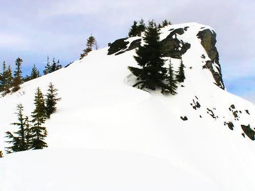 Summit block from east along...