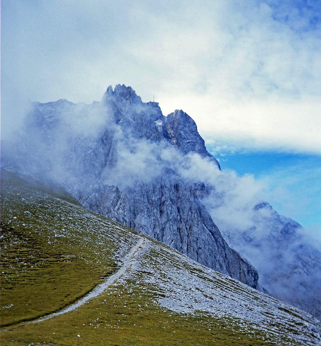 Zugspitze from Riffelscharte
