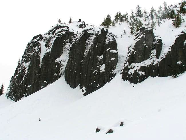 Cliffs on the west side of...