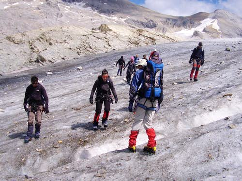 Exercising with crampons