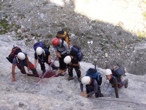 Instructing and climbing