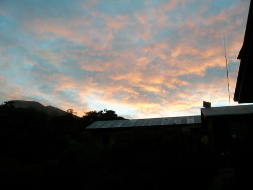 Sunset in Saddle Hut