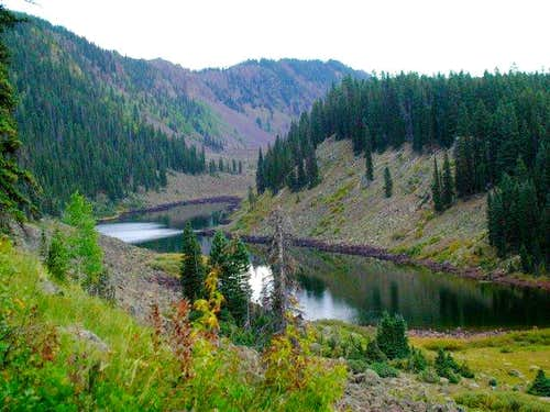 Looking down over Long Lake,...