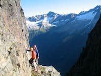 Bad rock = interesting climbing on J-Berg