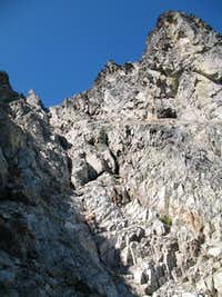 Endless down climbing off J-Berg