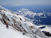 Rainier: descending the Kautz after climbing Fuhrer Finger