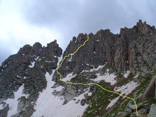 Jagged Mountain North Face Route